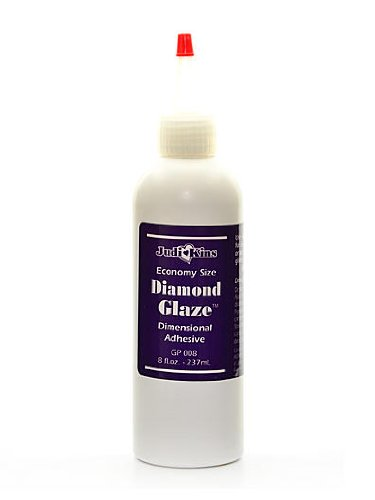 JudiKins Diamond Glaze 8 oz. bottle with applicator tip [PACK OF 2 (Judikins Diamond Glaze)
