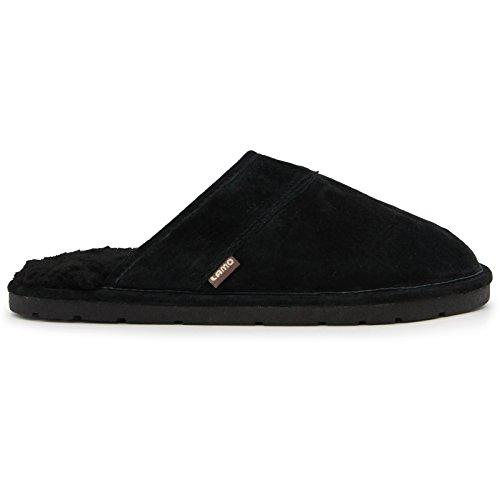 Pictures of Lamo Men's Scuff Slipper - Suede Shoe Black 1