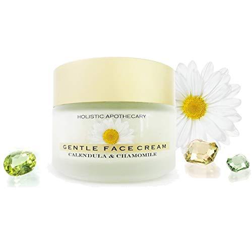 ORGANIC CHAMOMILE FACE Cream For Dry, Sensitive Skin Calming & Healing Glass Jar 3.5 OZ Glass Jar