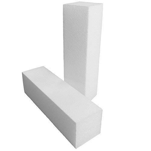 EuBeCos PREMIUM Schleifblock Buffer WEISS - 10 Stü ck (EU Produkt)