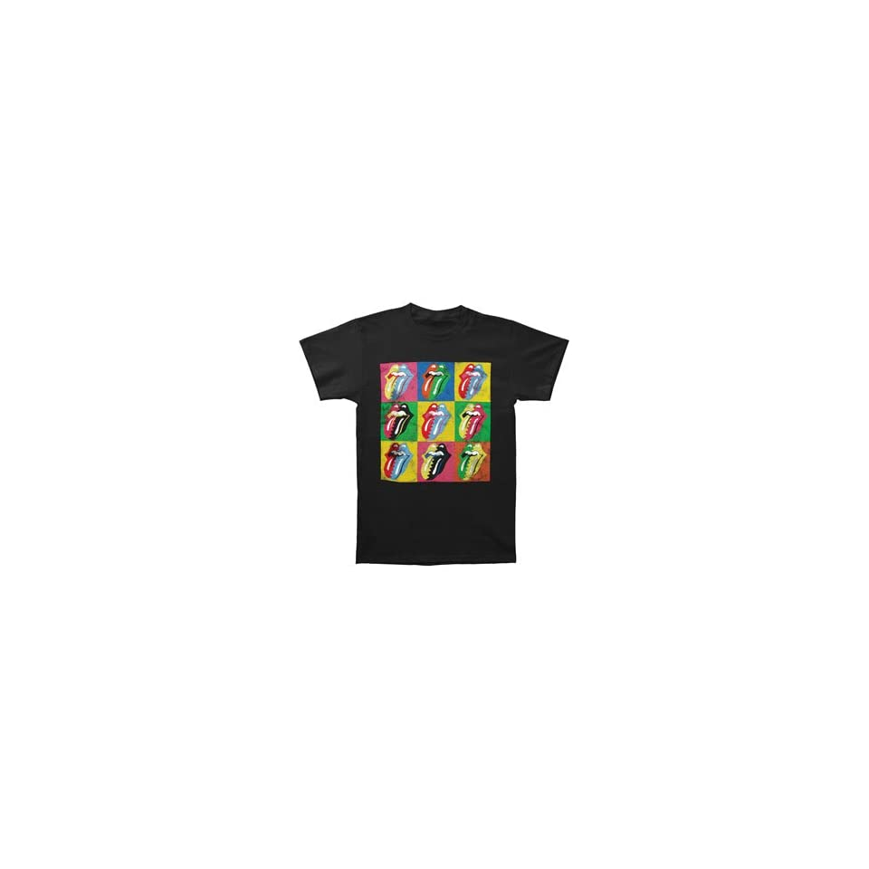 Bravado Juniors Rolling Stones Warhol Tongue Skinny T Shirt