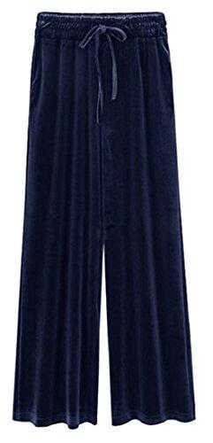 Velour Drawstring Pants - 3