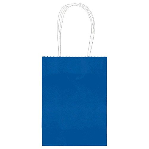 Party Friendly Solid Color Kraft and Treat Bags , Royal Blue, Paper , (Solid Color Treat Bags)