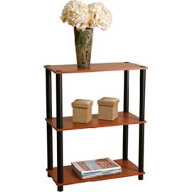 "Momentum Furnishings Llc PBF-0283-303 ""3-Tier"" Cherry Finish With Black Accents Book Shelf"