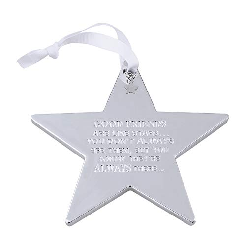 Douzi Good Friends are Like Stars Friendship Star Hanging Decoration Silver Star Ornament 5.5