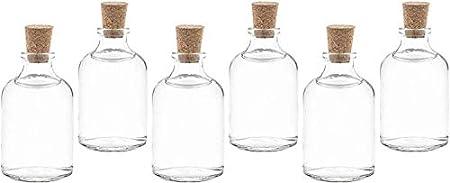 CALIDAD PREMIUM Y DURABLE: Cada botella de vidrio de tapón de corcho de alta calidad está libre de B