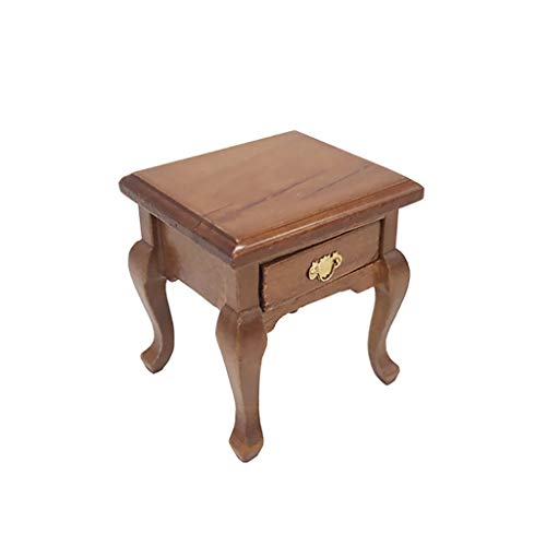 callm 1/12 Miniature Mini Dollhouse Furniture Cabinet Miniature Living Room Table Kids Toy for The 1:12 or 1:6 Scale Miniature Setting (Brown) ()
