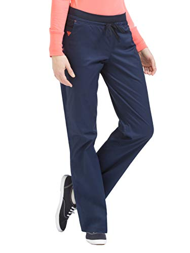 Signature Drawstring Pants - Med Couture Signature Women's Flex-It Yoga Drawstring Scrub Pant New Navy/Apricot M