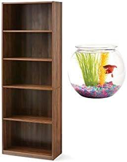 Mainstay' ' 71″ 5-Shelf Standard Bookcase