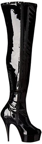 Pleaser Delight-3000 - Botas Mujer Negro (black)