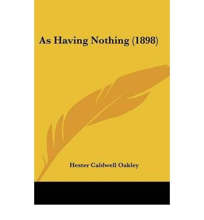 Read Online As Having Nothing (1898) (Paperback) - Common ebook