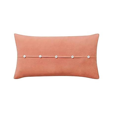 909 Wash Cotton 1PC Cotton Oblong Pillow Orange