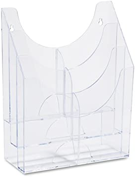 Amazon Com Rubbermaid Optimizers Multipurpose Six Pocket Organizer 9 1 2w X 4d X 12h Clear 66040ros Dmi Ea Office Products