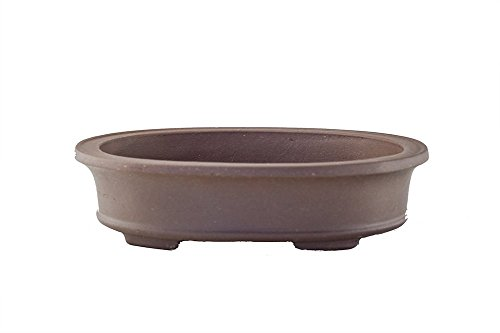 "Unglazed Large 14"" Oval Flat and Shallow Yixing Zisha Bonsai Pot (PB14-5)"