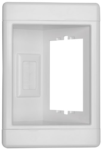 Volt Single Receptacle (Legrand - Pass & Seymour TV1LVKITWCC2 Recessed Television Receptacle Box One Gang Low Voltage Kit Easy Install)