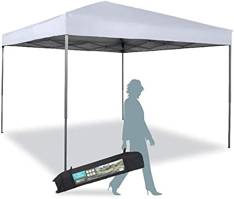 Pop Up Canopy 10'x 10' Outdoor Canopy UV Protection Easy Set-up Carrying