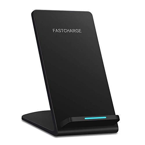 Feob Wireless Fast Charger, Qi Wireless Charging Stand Pad for iPhone Xs Max/XS/XR/X/iPhone 8/8 Plus/Samsung Galaxy S6 S6 Edge Note 5 Note 8 S7 S7 Edge S8 S8 Plus