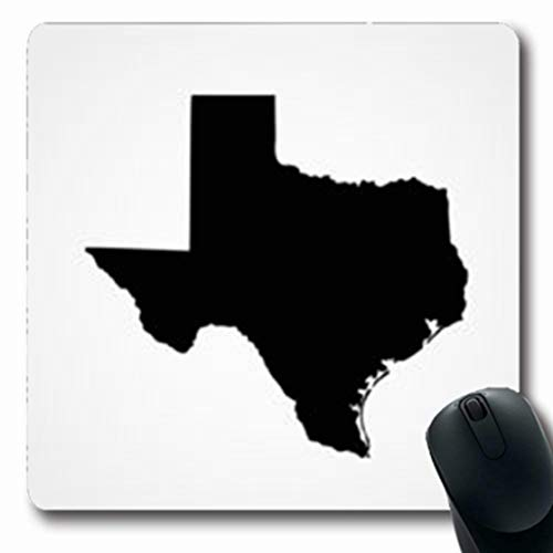 ArtsDecor Mousepads News Map Us State Texas Country Austin Grey Border Houston Texan Line Oblong Shape 7.9 x 9.5 Inches Oblong Gaming Mouse Pad Non-Slip Mouse Mat