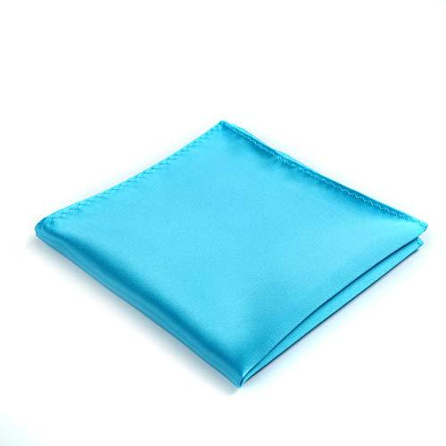 Fortunatever Classical Men's Solid Pocket Square (Sky Blue) ()