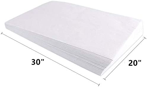 White Tissue Ream 30 X 20-100 Sheets,Premium Bulk White Tissue Paper Pack for Events Birthday Party DIY Gift Wrapping,Crafts Art Decorations Pom Poms,Holiday Festival Baskets.