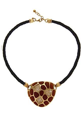 Kenneth Jay Lane Tiger Tortoise Gold - Pendants Kenneth Jay Lane Crystal