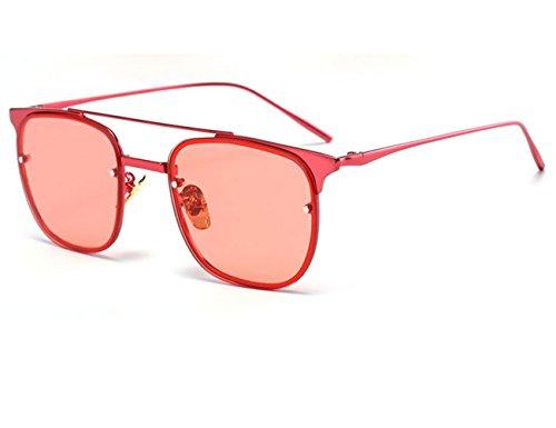 Konalla Square Rimless Tinted Flash Mirror Fashion Sunglasses For Womens - Next Polarised Sunglasses