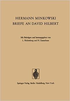 Book Hermann Minkowski Briefe an David Hilbert