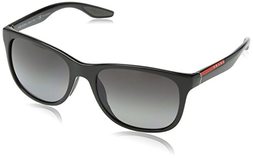 Prada Linea Rossa Men's 0PS 03OS Black/Grey - Sunglasses Round Oversized Prada