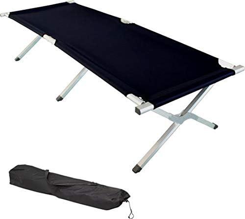TecTake XL Alu Feldbett Campingbett belastbar bis 150 kg mit Transporttasche Diverse Farben und Mengen