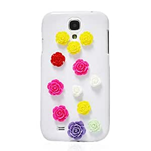 GJY Simple Rose Spot Zircon Leather Case for Samsung Galaxy S4 I9500(Assorted Color) , White