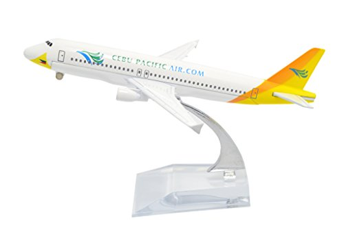 TANG DYNASTY(TM) 1:400 16cm Air Bus A320 Cebu Pacific Airline Metal Airplane Model Plane Toy Plane (Pacific Airlines)