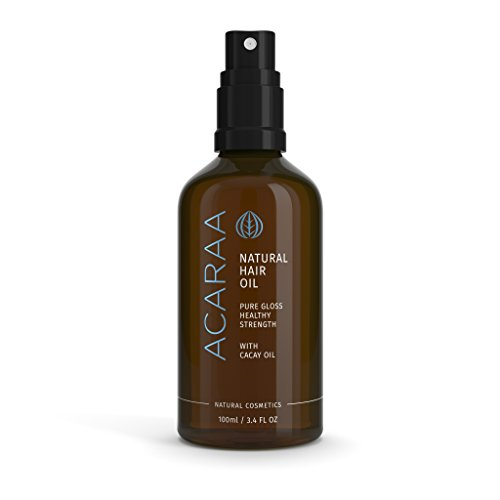 ACARAA Hair Oil Organic, Leave In Conditioner For Dry Hair With Argan Oil, Almond Oil & Jojoba Oil, Oil Treatment For Hair Strength, Non Greasy Hair Oil, Natural Cosmetics Made In Germany, 3.4 oz