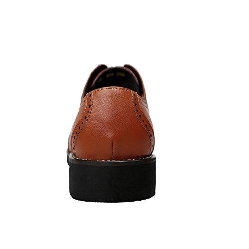 Hommes Oxford Chaussures Gravure Ventilation Business Smart Formelles Chaussures à Lacets Richelieus Pour Hommes Gentleman Banquet Mariage Chaussures En Cuir Brown uYm7YDOouG