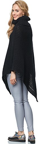 Merry Style Poncho para mujer MSSE0020 Negro