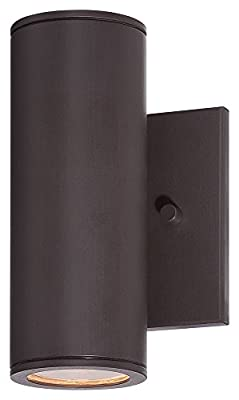 "Minka Great Outdoors 72501-615B-L Skyline - 7.75"" 11W 1 LED Outdoor Wall Mount, Dorian Bronze Finish"