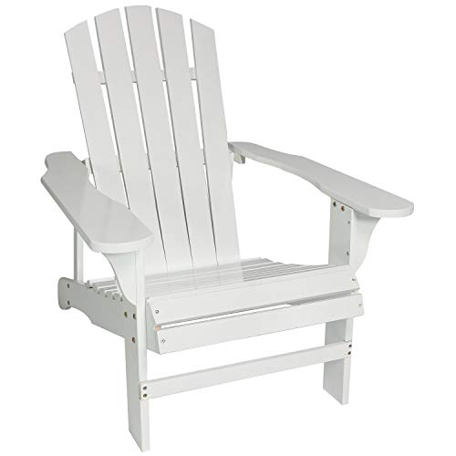 Sunnydaze Classic Outdoor Wooden Adirondack Patio Chair, White