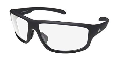 adidas Unisex-Adult Kumacross 2.0 a424 6062 Non-Polarized Iridium Rectangular Sunglasses, black Matte, 64 mm (Sunglasses Men Adidas)