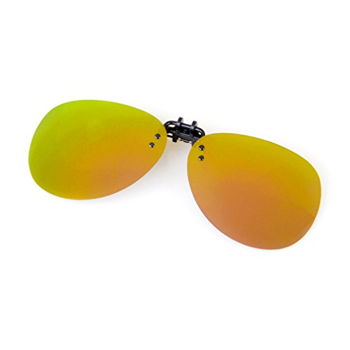 (Cyxus Polarized Aviator Sunglasses with Clip On Mirrored Lens Gold Flash)