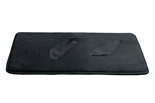 Klickpick Designs Memory Foam Bath Mat Supersoft Non Slip Highly Absorbent Velvet Bathroom Rug Mat (Black, 24 x 35)