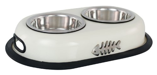 Double Cat Bowl Cat Supplies Dishes, Feeders & Fountains