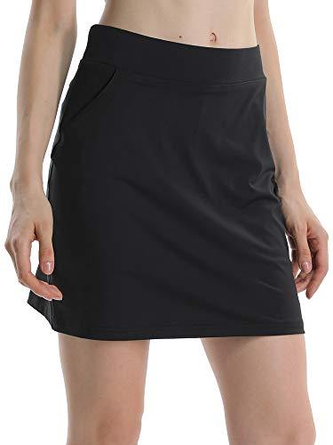 Jessie Kidden Women's Athletic Stretch Skort Skirt with Shorts and Pocket for Running Tennis Golf Workout -