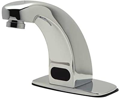 "Zurn Z6913-XL-MT Aquasense Battery Powered Sensor Operated Bathroom Faucet with Mixing Tee, Single Hole, Chrome, Lead Free, Plastic, 2.9"" x 11.4"" x 10.9"""