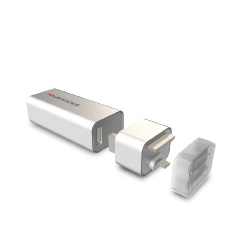 (Powerocks 370652 EZ Stone Battery for Smartphones - Retail Packaging - White)