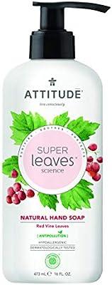 ATTITUDE Super Leaves Jabón de Manos Hojas de Vino Tinto ...