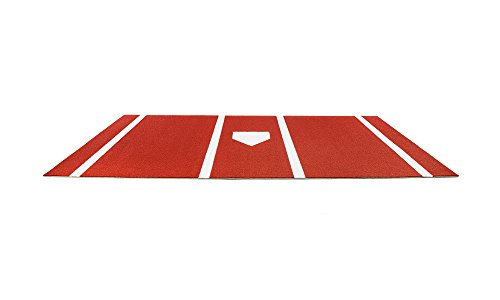 Pro-Ball Synthetic Turf Baseball/Softball Hitting Mat with Home Plate and Lines, Clay - 7 feet x 12 feet by All Turf Mats