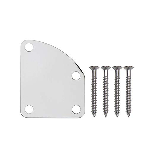Small-Chipinc - Electric Bass Guitar Neck Joint Plate Cutaway Neck Plate Unfilled Corner Type Guitarra Accessories ()