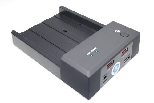 SMAKN® 3.5''/2.5'' SATA HDD To Dual USB 2.0 Port External Dock Station Enclosure by SMAKN