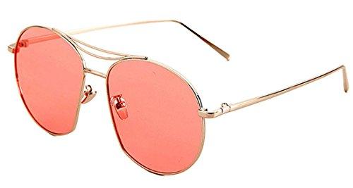 para mujer Gafas redondas sol polarizadas Tide de y Gafas retro anti de JYR sol Red Frame ultravioleta Gafas hombre Silver wg6xI0pgnq