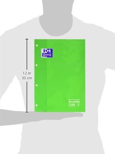Oxford 100104037 - Ersatzteil, A4, 80 Blatt, Raster 5 x 5, grün