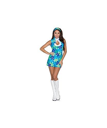 Underwraps Women's Flower, Blue/Green, X-Large (Adult Flower Halloween Costume)